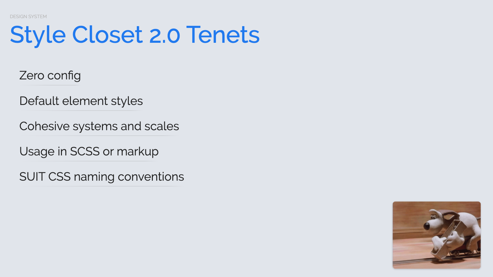Slide content, Style Closet 2.0 tenets