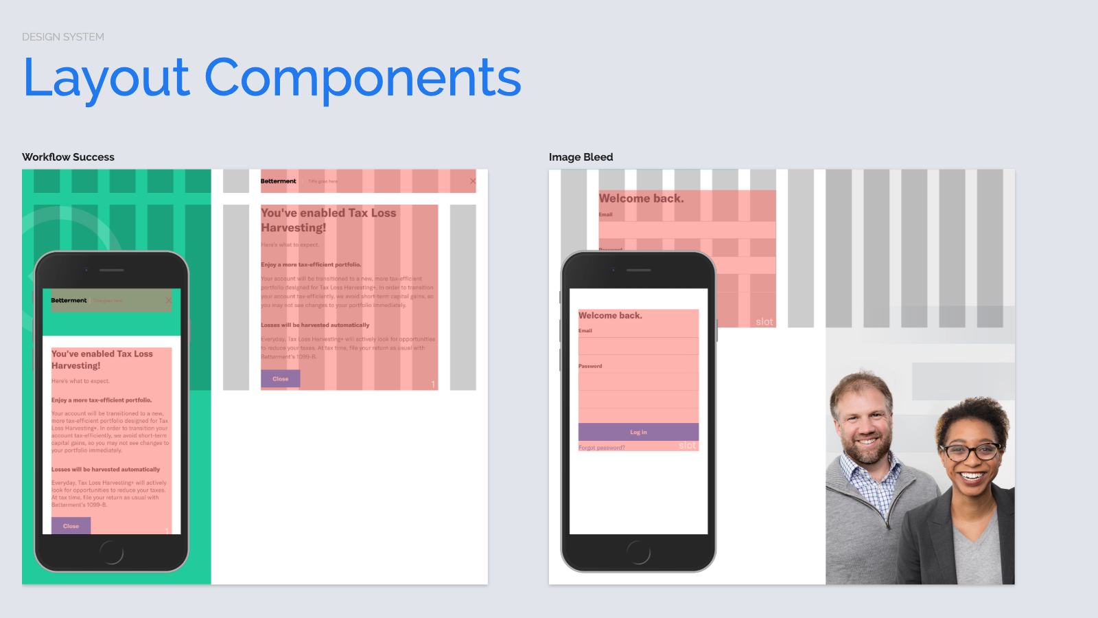 Slide content, Additional responsive layout components